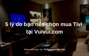 5 lý do tại sao bạn nên mua Tivi tại Vuivui.com