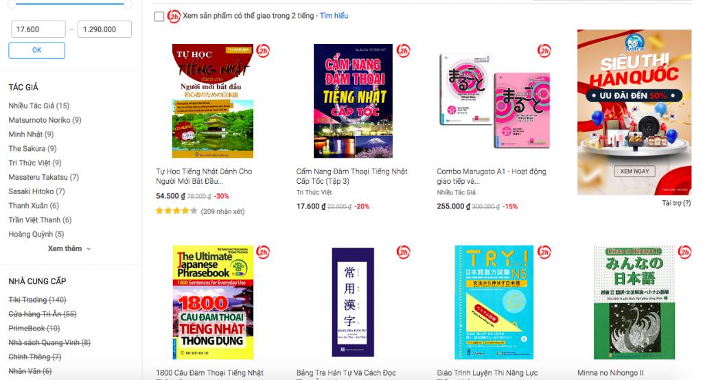 mua sách tiếng nhật online