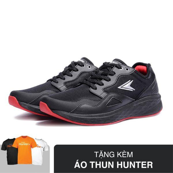 SHOPEE – [Tặng Áo Thun Hunter] Giày Thể Thao Nam Biti's Hunter Choco DSMH00601DEN (Đen Đỏ)