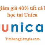 Mã giảm giá Unica – Lấy mã giảm 40% tất cả khoá học của Unica